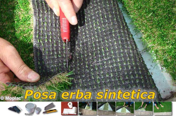 posa dell 39 erba sintetica pochi attrezzi e qualche